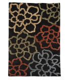 RugStudio presents Linon Trio Tad12 Chocolate / Pumpkin Hand-Tufted, Good Quality Area Rug