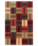 RugStudio presents Linon Trio Tad22 Burgundy / Beige Hand-Tufted, Good Quality Area Rug