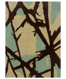 RugStudio presents Linon Trio Tad35 Charcoal / Pale Blue Hand-Tufted, Good Quality Area Rug