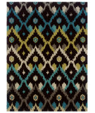 RugStudio presents Linon Trio Tae01 Brown / Teal Hand-Tufted, Good Quality Area Rug