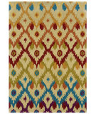 RugStudio presents Linon Trio Tae02 Sand / Teal Hand-Tufted, Good Quality Area Rug