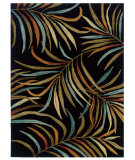 RugStudio presents Linon Trio Tae05 Black / Terracotta Hand-Tufted, Good Quality Area Rug