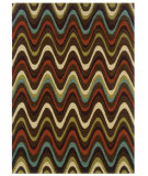 RugStudio presents Linon Trio Tae09 Brown / Multi Hand-Tufted, Good Quality Area Rug