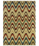 RugStudio presents Linon Trio Tae10 Sand / Multi Hand-Tufted, Good Quality Area Rug
