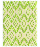 RugStudio presents Linon Trio Taf01 Green - Ivory Hand-Tufted, Good Quality Area Rug