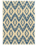 RugStudio presents Linon Trio Taf02 Blue - Ivory Hand-Tufted, Good Quality Area Rug