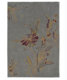 RugStudio presents Linon Trio Tamo1 Plate Blue / Gold Hand-Tufted, Good Quality Area Rug