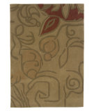 RugStudio presents Linon Trio Tapa2 Beige / Olive Hand-Tufted, Good Quality Area Rug