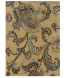RugStudio presents Linon Trio Tarl0 Beige / Blue Hand-Tufted, Good Quality Area Rug
