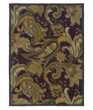 RugStudio presents Linon Trio Tarl0 Aubergine / Green Hand-Tufted, Good Quality Area Rug
