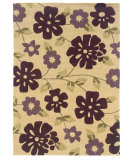 RugStudio presents Linon Trio Tarl1 Cream / Purple Hand-Tufted, Good Quality Area Rug