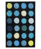 RugStudio presents Linon Trio Tarl1 Black / Blue Hand-Tufted, Good Quality Area Rug