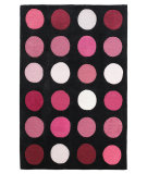 RugStudio presents Linon Trio Tarl1 Black / Pink Hand-Tufted, Good Quality Area Rug