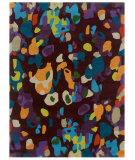 RugStudio presents Linon Trio Tarl1 Purple / Turquoise Hand-Tufted, Good Quality Area Rug