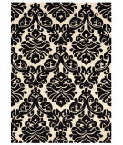 RugStudio presents Linon Trio Tarl2 Black / White Hand-Tufted, Good Quality Area Rug