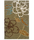 RugStudio presents Linon Trio Tasd0 Green / Brown Hand-Tufted, Good Quality Area Rug