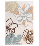 RugStudio presents Linon Trio Tasd0 Beige / Turquoise Hand-Tufted, Good Quality Area Rug