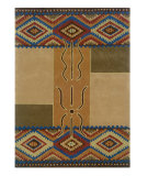 RugStudio presents Linon Trio Tasp0 Camel / Rust Hand-Tufted, Good Quality Area Rug