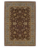 RugStudio presents Linon Trio Traditional Tt02 Brown / Light Blue Hand-Tufted, Good Quality Area Rug
