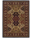 RugStudio presents Linon Trio Traditional Tt0657 Burgundy / Black Hand-Tufted, Good Quality Area Rug
