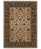 RugStudio presents Linon Trio Traditional Tt07 Ivory - Black Hand-Tufted, Good Quality Area Rug