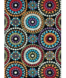 RugStudio presents Loloi Aurora AA-04 Black Circles Hand-Tufted, Good Quality Area Rug