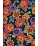 RugStudio presents Loloi Aurora AA-07 Black Floral Hand-Tufted, Good Quality Area Rug