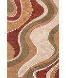 RugStudio presents Loloi Abacus AC-01 Beige Rust Hand-Tufted, Better Quality Area Rug