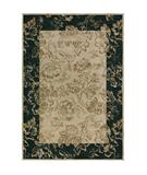 RugStudio presents Rugstudio Sample Sale 37701R Beige-Black Machine Woven, Best Quality Area Rug