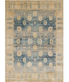 RugStudio presents Loloi Anastasia Af-09 Blue - Gold Machine Woven, Best Quality Area Rug