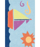 RugStudio presents Loloi Angelou AN-01 Light Blue / Orange Woven Area Rug