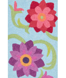 RugStudio presents Loloi Angelou Angehan07lbby Lt. Blue / Berry Woven Area Rug
