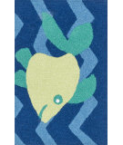 RugStudio presents Loloi Angelou AN-09 Blue / Yellow Woven Area Rug