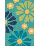 RugStudio presents Loloi Angelou AN-26 Green / Blue Woven Area Rug