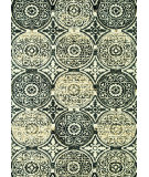 RugStudio presents Loloi Avanti Av-07 Black / Gold Machine Woven, Good Quality Area Rug
