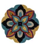 RugStudio presents Loloi Azalea Azalsaz04bbml Blue / Multi Hand-Tufted, Good Quality Area Rug