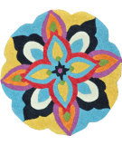 RugStudio presents Loloi Azalea Az-04 Blue / Multi Hand-Tufted, Good Quality Area Rug