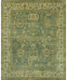 RugStudio presents Loloi Bogart BG-02 Blue - Ivory Hand-Knotted, Good Quality Area Rug