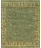 RugStudio presents Loloi Bogart BG-03 Aqua - Ivory Hand-Knotted, Good Quality Area Rug