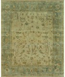RugStudio presents Rugstudio Sample Sale 53990R Ivory - Blue Hand-Knotted, Good Quality Area Rug