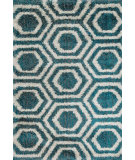 RugStudio presents Loloi Barcelona Shag BS-09 Blue / Light Grey Machine Woven, Good Quality Area Rug