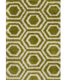 RugStudio presents Loloi Barcelona Shag Barcbs-09 Green / Ivory Machine Woven, Good Quality Area Rug