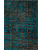 RugStudio presents Loloi Barcelona Shag BS-10 Charcoal / Dark Teal Machine Woven, Good Quality Area Rug