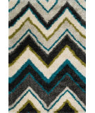 RugStudio presents Loloi Barcelona Shag Barcbs-11 Ivory / Multi Machine Woven, Good Quality Area Rug