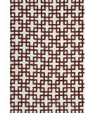 RugStudio presents Loloi Charlotte Ct-04 Ivory / Rust Machine Woven, Good Quality Area Rug