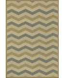 RugStudio presents Loloi Capri Cx-05 Beige / Blue Machine Woven, Good Quality Area Rug