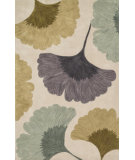 RugStudio presents Loloi Eden Edenea-02 Ivory / Green Hand-Tufted, Good Quality Area Rug