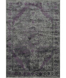 RugStudio presents Loloi Elton EO-03 Pewter / Purple Machine Woven, Good Quality Area Rug