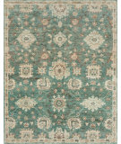RugStudio presents Loloi Empress EU-03 Aqua / Beige Hand-Knotted, Good Quality Area Rug