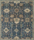 RugStudio presents Loloi Empress EU-03 Denim / Beige Hand-Knotted, Good Quality Area Rug